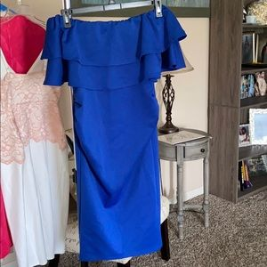 Blue occasion dress